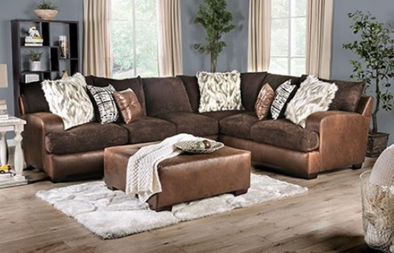 Gellhorn Sectional Sofa in Brown