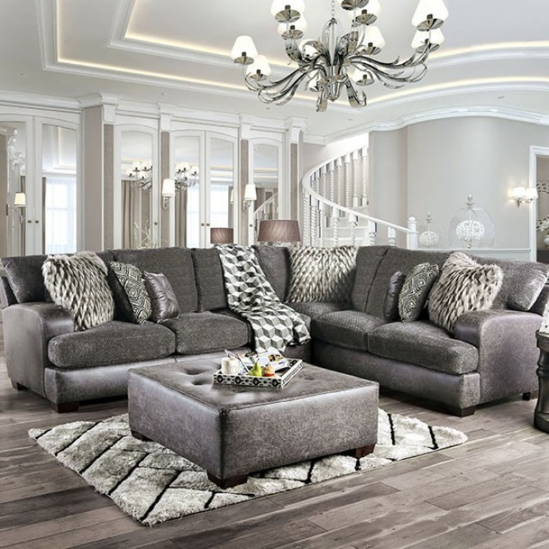Gellhorn Sectional Sofa in Gray