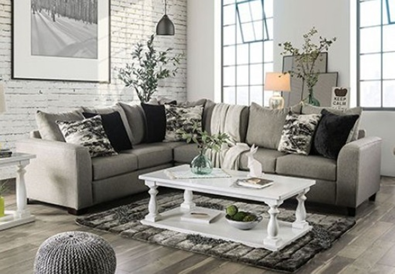 Barnett Gray Sectional Sofa