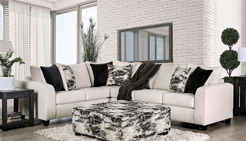 Barnett Ivory Sectional Sofa