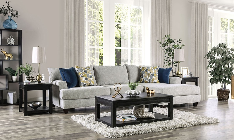 Viktor Sectional Sofa in Light Gray