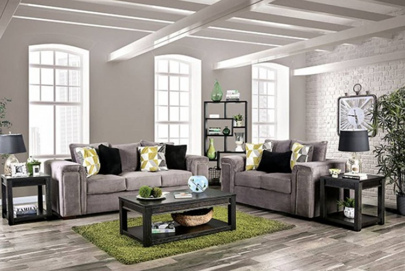 Bradford Living Room Set in Warm Gray