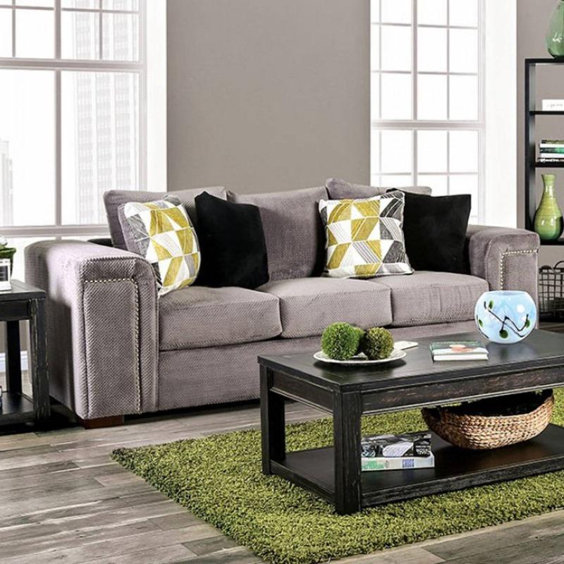 Bradford Living Room Set in Warm Gray