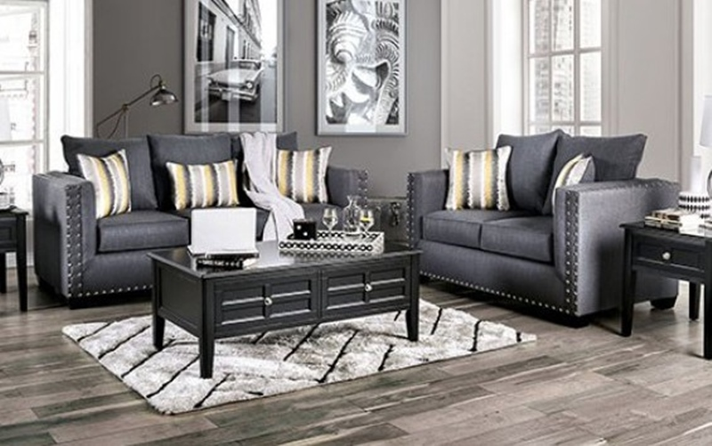 Inkom Living Room Set in Modern Slate