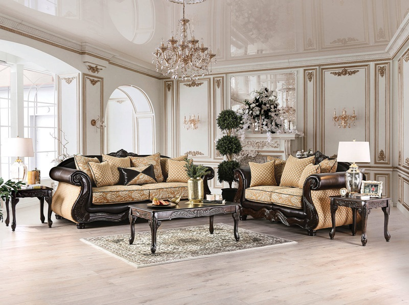 SM6423 Aislynn Sofa Set | Furniture of America | Free Delivery