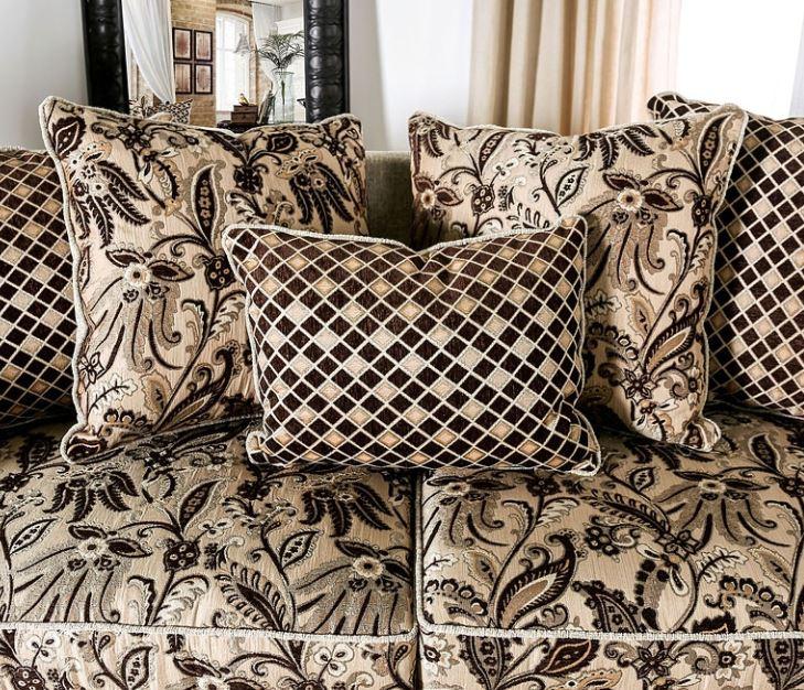 Caldiran Formal Chenille Sofa Set