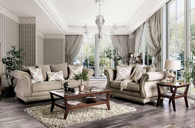 Nelson Living Room Set in Gray