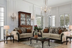 Saoirse Formal Living Room Set in Tan
