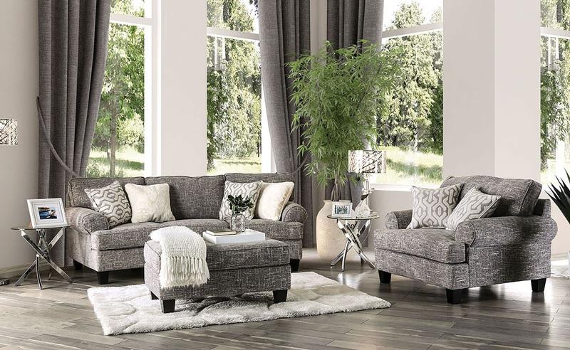 Pierpont Living Room Set in Gray