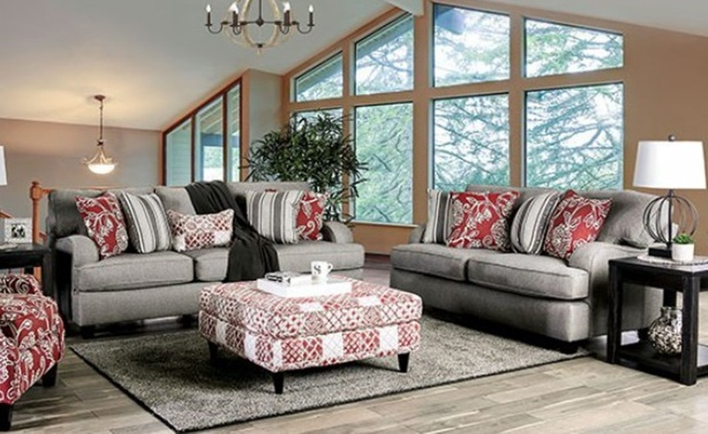 Ames Living Room Set in Charcoal
