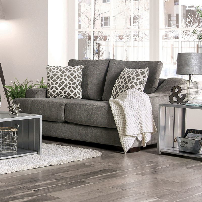 furniture of america  sm9101 adrian gray living room set