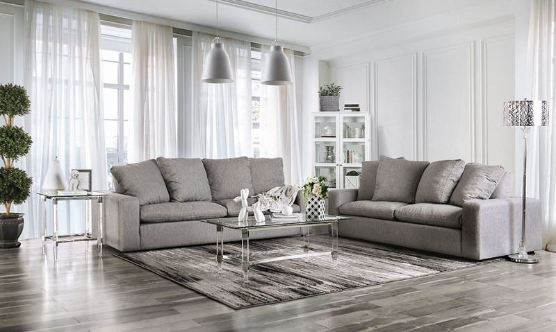 Acamar Living Room Set in Gray