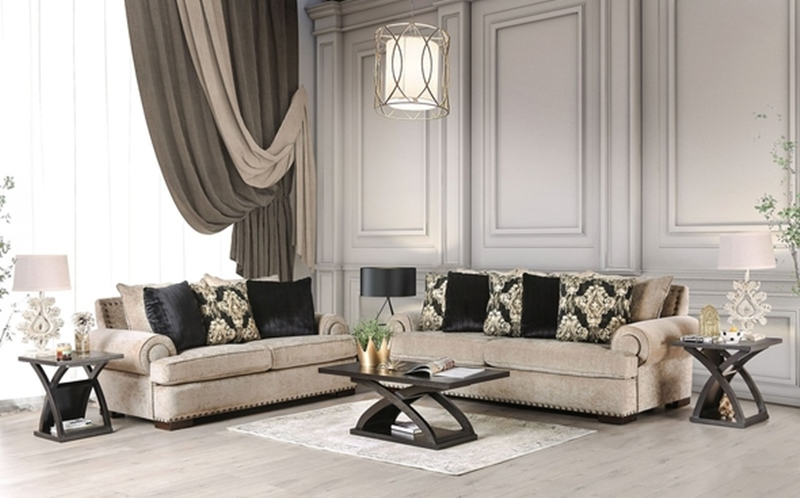 Yates Living Room Set in Beige