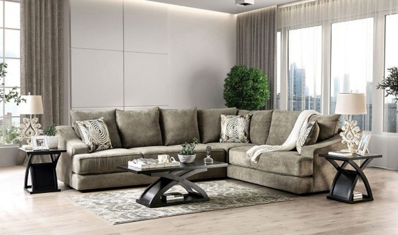 Senda Sectional Sofa in Taupe