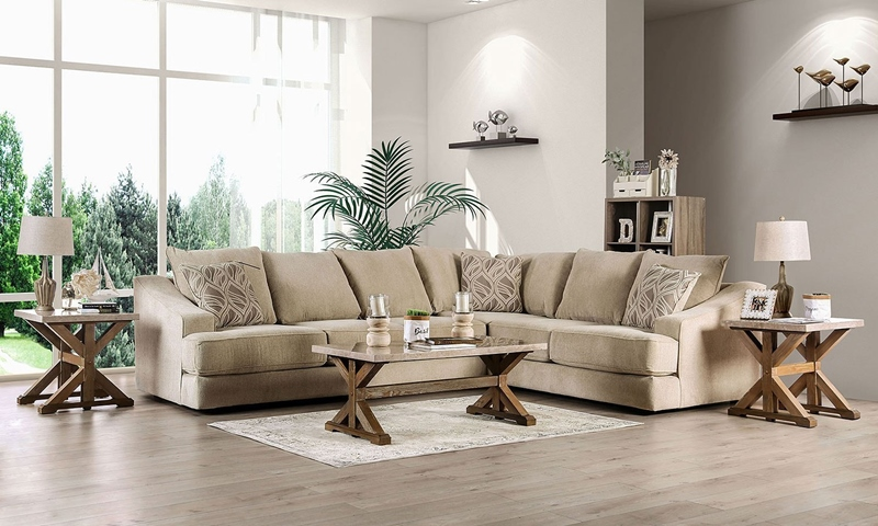 Senda Sectional Sofa in Beige