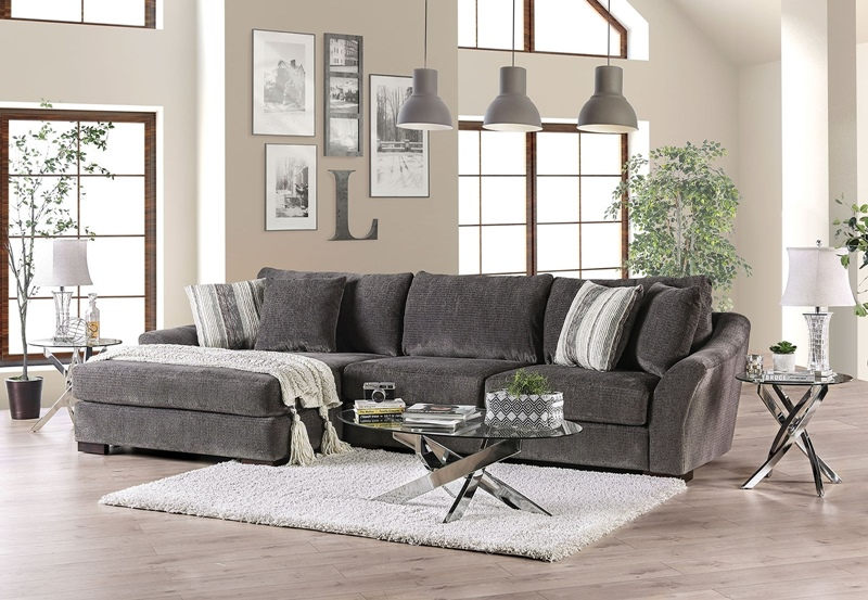 Sigge Sectional Sofa in Charcoal