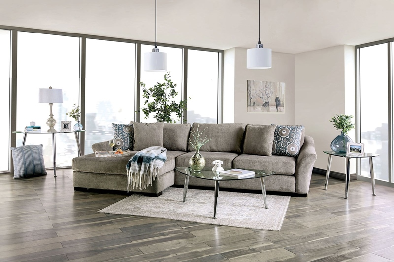 Sigge Sectional Sofa in Light Gray