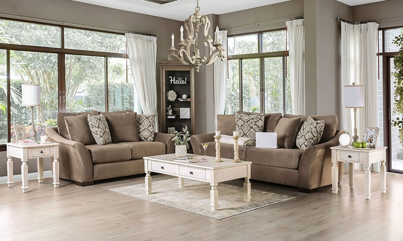 Oacoma Living Room Set in Mocha