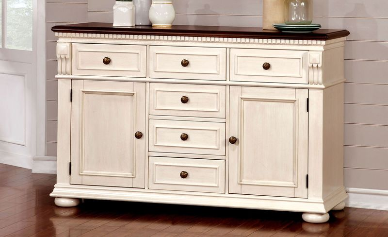 Sabrina Counter Height Dining Room Set in White