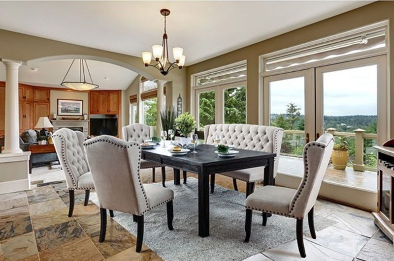Sania I Formal Dining Room Set with Bench
