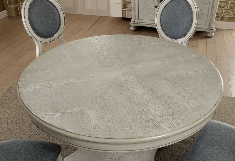 Kathryn Formal Dining Room Set with Round Table in Antique White