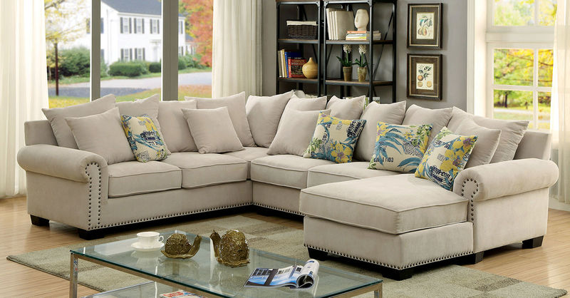 Skyler Sectional Sofa in Ivory