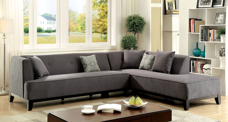 Sofia Sectional in Gray