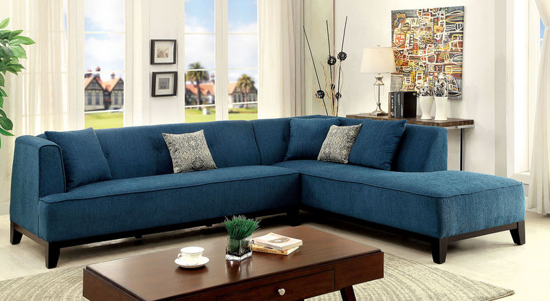 Sofia Sectional in Teal