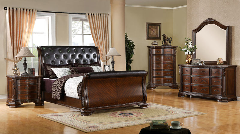 South Yorkshire Bedroom Set with Sleigh Bed