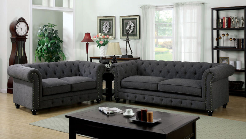 Stanford Living Room Set in Gray