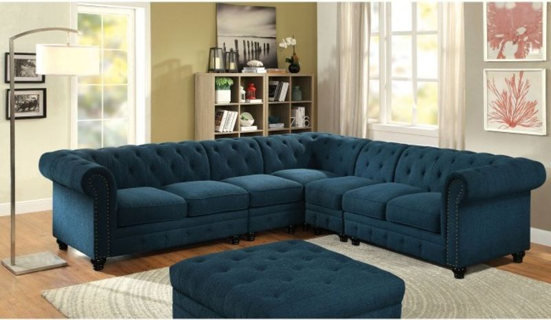 Stanford Sectional Sofa in Teal