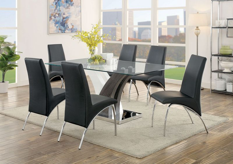 Svana Dining Room Set in Black