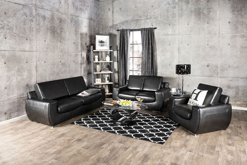 Tekir Living Room Set in Black