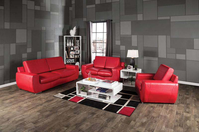 Tekir Living Room Set in Red