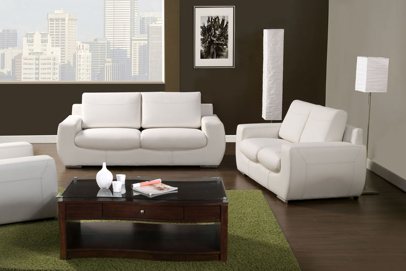 Tekir Living Room Set in White