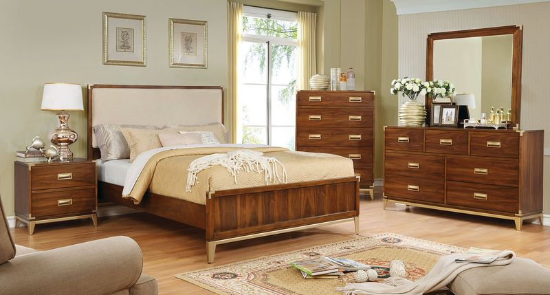 Tychus Bedroom Set with Upholstered Headboard
