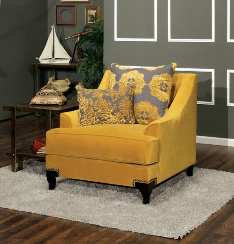 Dallas designer furniture viscontti living room set in gold for Sm living room furnitures