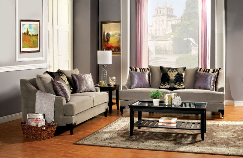 Viscontti Living Room Set in Mocha