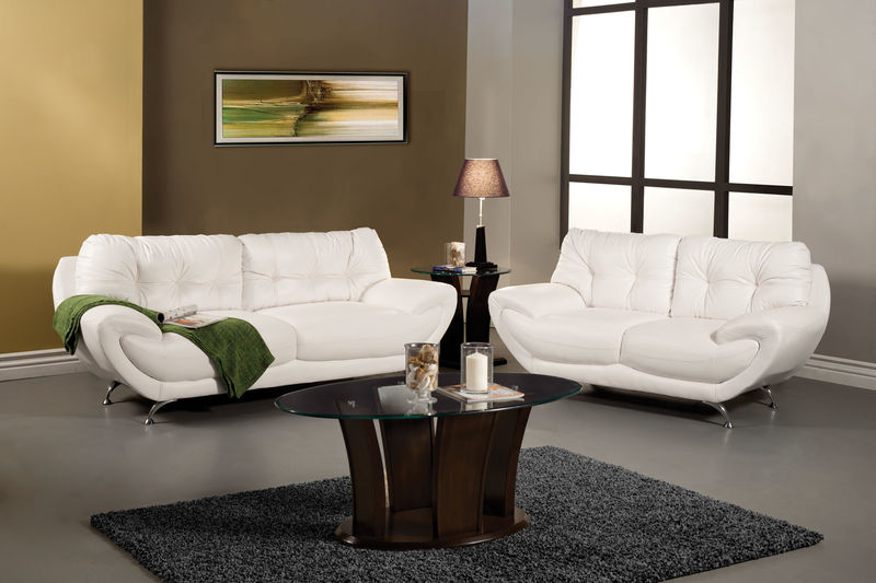 Volos Living Room Set in White