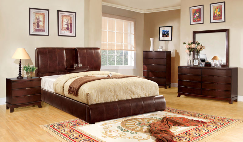 Webster Bedroom Set in Brown
