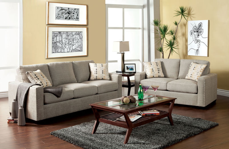 Wolver Living Room Set in Pewter