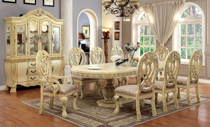 Wyndmere Formal Dining Room Set in White
