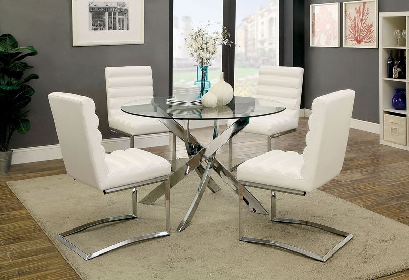 Yasmin Dining Room Set in White