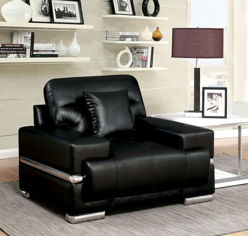 Zibak Living Room Set in Black