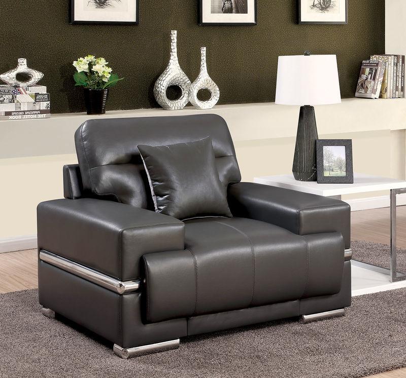 Zibak Living Room Set in Gray