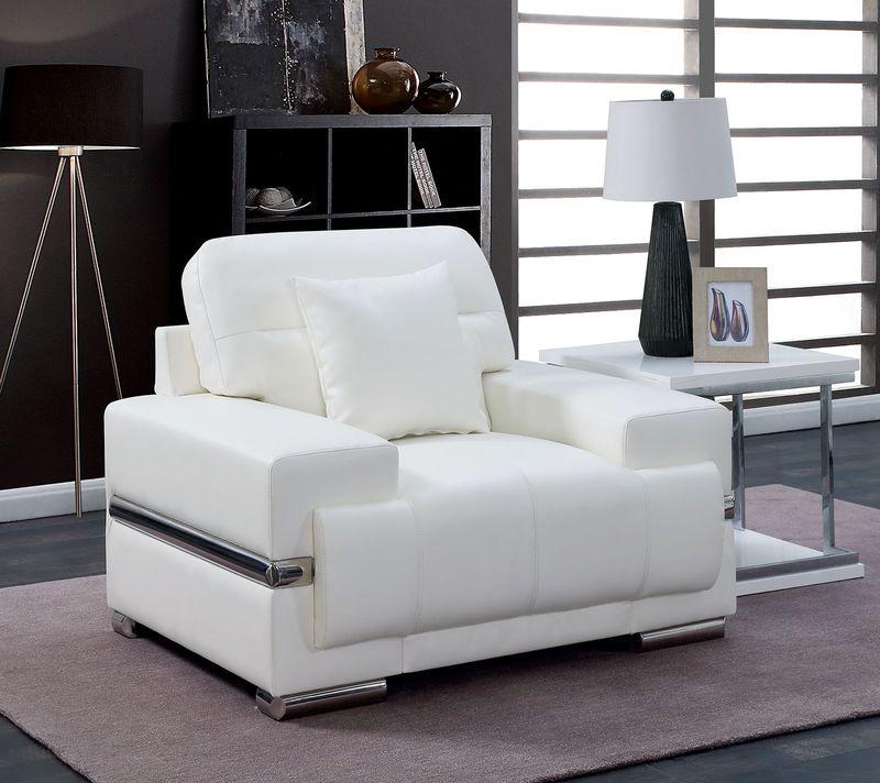 Zibak Living Room Set in White