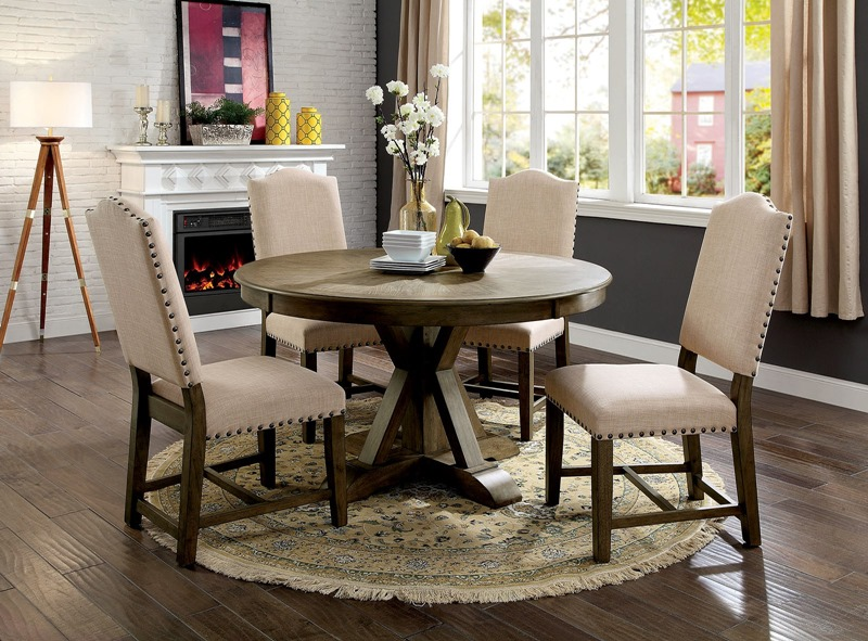 Julia Formal Dining Room Set with Round Table