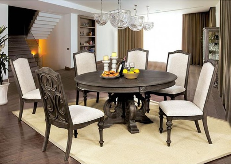 Arcadia Formal Dining Room Set with Round Table