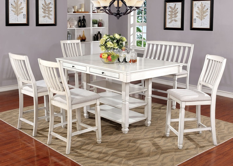 Furniture of America | CM3194PTKaliyah Counter Height Dining Room ...