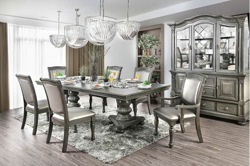 Alpena Formal Dining Room Set In Gray